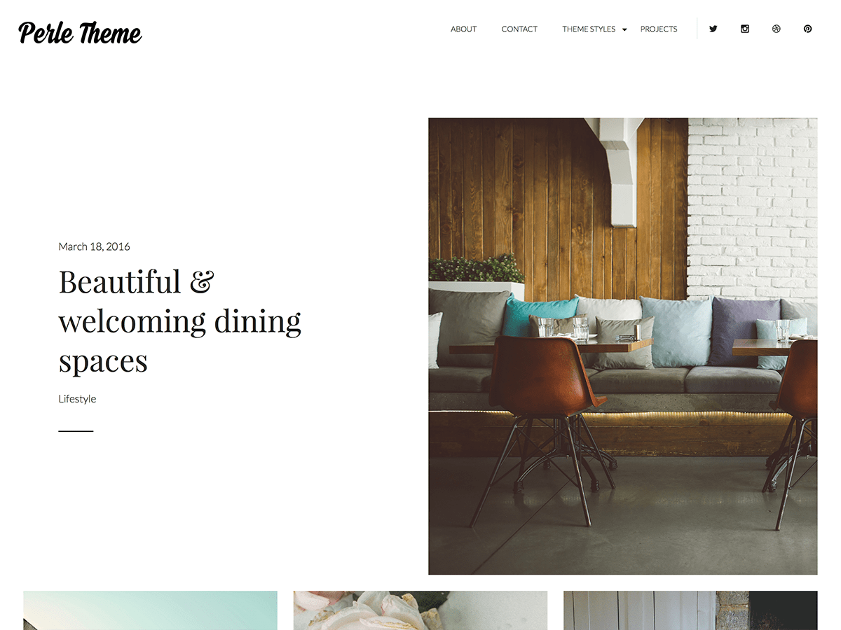 Perle WordPress Theme
